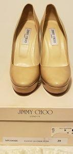 Jimmy Choo Nude Cosmic Heels Size 9